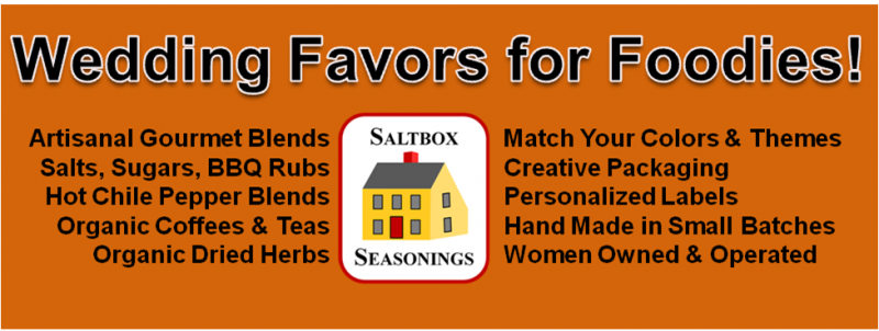 Saltbox Seasonings - Wedding Favors for Foodies!