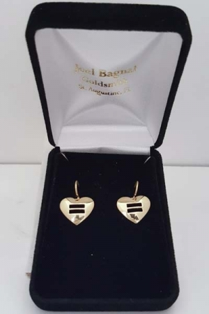 |Heart of Equality Earrings, Courtesy of Joel Bagnal|LGBT Engagement Rings, Courtesy of Joel Bagnal|||